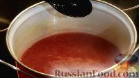 Фото приготовления рецепта: Кисель из смородины (замороженной или свежей) - шаг №8