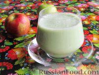 Фото к рецепту: Смузи на кефире, с яблоком и листовым салатом