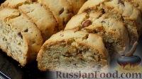 """Фото к рецепту: Печенье """"Бискотти"""" с орехами"""