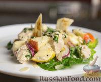 Фото к рецепту: Салат с курицей и яблоками