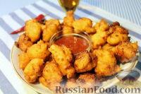 Фото к рецепту: Кукурузные мини-пончики