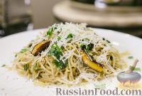 Фото к рецепту: Спагетти с карамелизованными лимонами