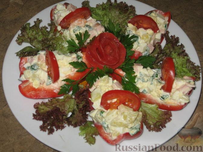 Рецепт Салат Красные лодочки