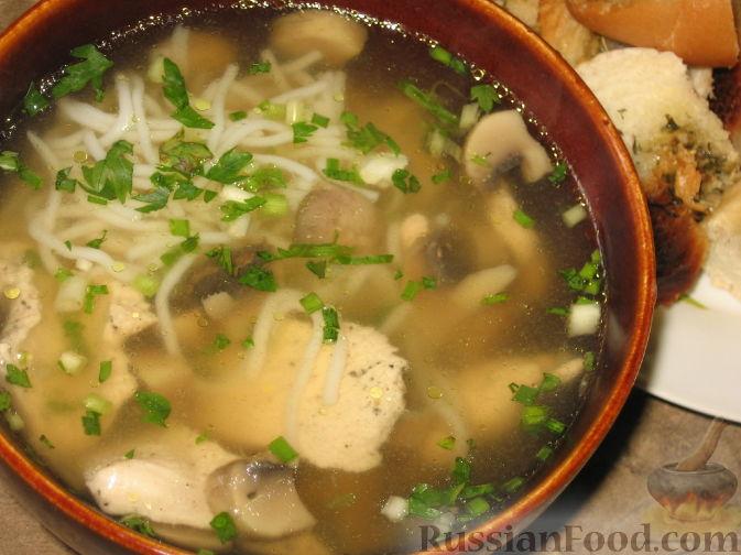 Рецепт Китайский бульон с рисовой лапшой