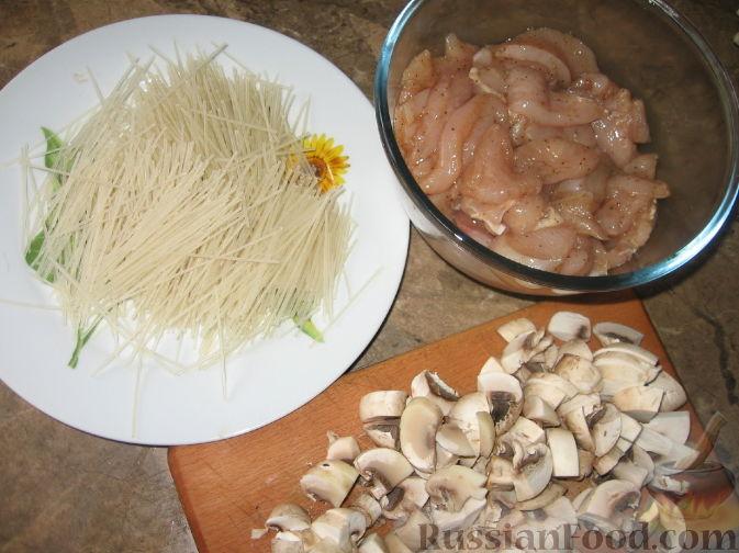 салат с рисовой лапшой по китайски рецепт