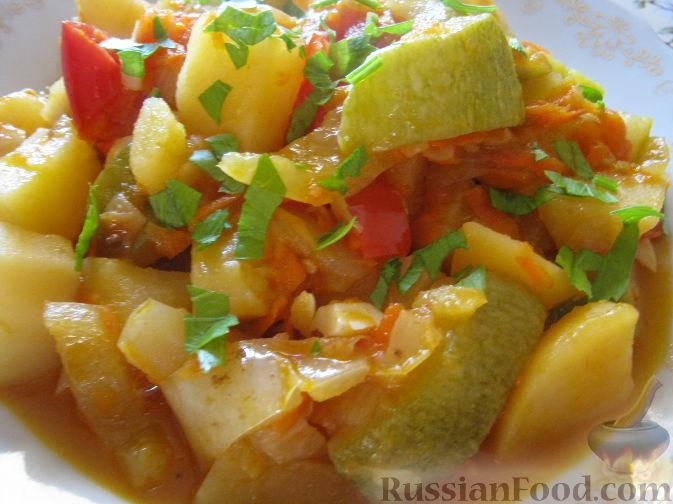 рагу из кабачков и картошки рецепт с фото