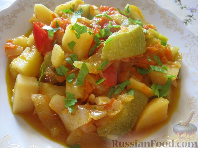 фото рецепт рагу овощное
