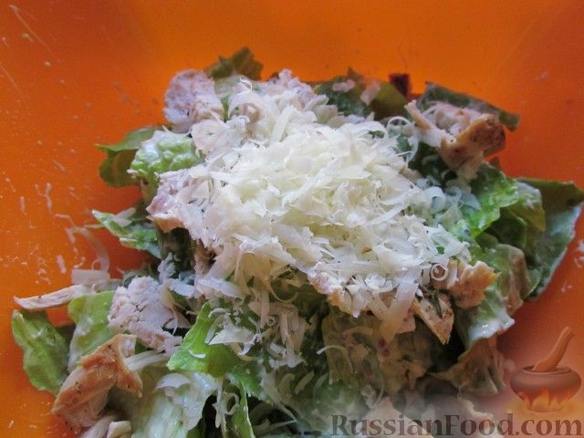 цезарь с курицей салат рецепт с йогуртом