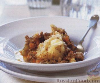 Рецепт Мясная запеканка под картофельной шапкой