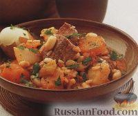 Фото к рецепту: Сборное рагу из овощей, мяса, фасоли, перловки и риса