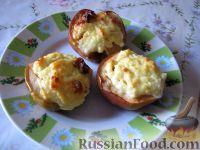 Фото к рецепту: Яблоки, запеченные с творогом