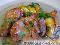 Фото к рецепту: Курица с айвой