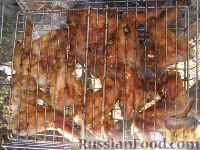 Фото к рецепту: Куриные крылышки, жареные на решетке