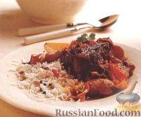 Фото к рецепту: Ягнятина, тушенная с картофелем