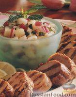 Фото к рецепту: Свиное филе, жаренное на гриле