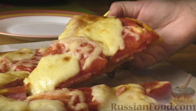 рецепт пиццы домашней на бездрожжевом тесте