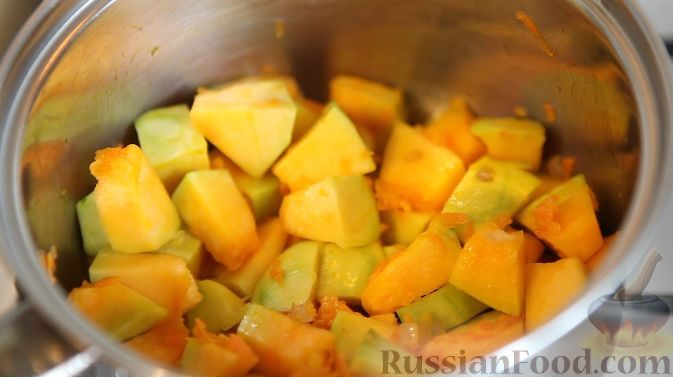 Фото приготовления рецепта: Крем-суп тыквенный - шаг №4