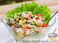 Фото к рецепту: Селёдочный салат с сырной заправкой