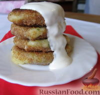 Фото к рецепту: Картофельные крокеты с сыром