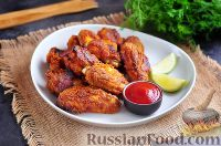 Фото к рецепту: Запеченные куриные крылышки