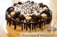 Фото к рецепту: Кофейный торт с бананом и сливочным кремом