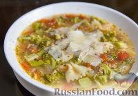 """Фото к рецепту: Суп """"Минестроне"""" с брокколи"""
