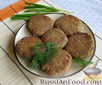 Фото к рецепту: Котлеты из тунца с рисом