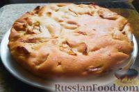 Фото к рецепту: Постный манник с яблоками
