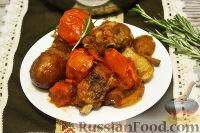 Фото к рецепту: Ребрышки с картофелем и пивом (в казане)