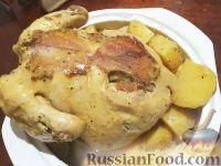 Фото к рецепту: Курица с картофелем (в мультиварке)