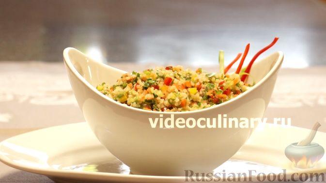 Фото приготовления рецепта: Диетический салат из киноа - шаг №15