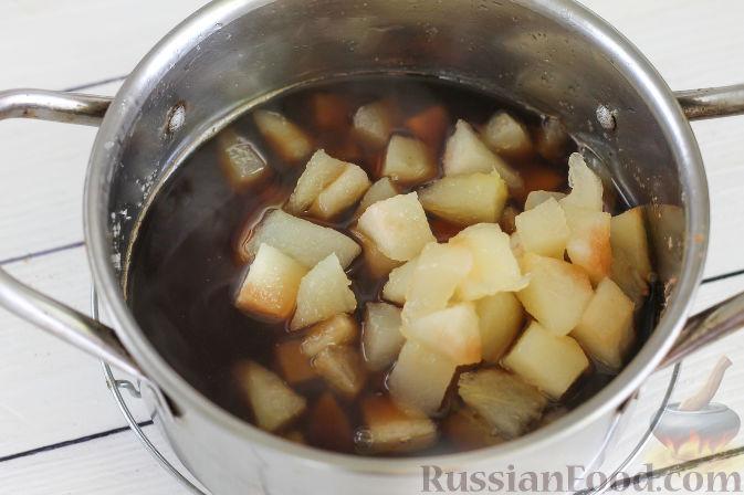 Фото приготовления рецепта: Грушевый конфитюр с кофе - шаг №7