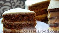 Фото к рецепту: Морковный торт с творожным кремом