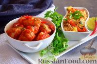 Фото к рецепту: Курица с ананасом и помидорами