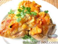 Фото к рецепту: Курица в апельсиновом желе