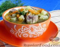 Фото к рецепту: Суп с лапшой и машем