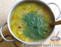 Фото приготовления рецепта: Суп с лапшой и машем - шаг №11