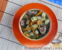 Фото приготовления рецепта: Суп с лапшой и машем - шаг №12