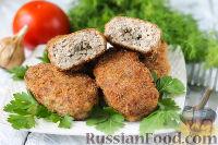 Фото к рецепту: Куриные котлеты с грибами