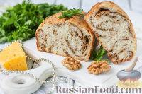 Фото к рецепту: Хлеб с сыром и орехами