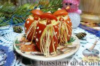 """Фото к рецепту: Фаршированные помидоры """"Деды Морозы"""""""