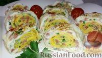Фото к рецепту: Роллы из яиц (на завтрак)