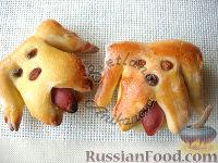 "Фото к рецепту: Булочки ""Забавные собачки"""