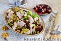 Фото к рецепту: Салат с курицей и гранатом