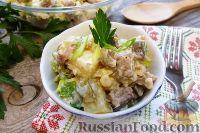 Фото к рецепту: Салат из картофеля с копченой рыбой