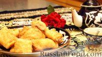Фото к рецепту: Самса слоёная с картофелем, жаренная во фритюре