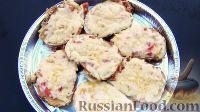 Фото к рецепту: Быстрые закуски из хлеба на сковороде (горячие бутерброды)