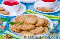Фото к рецепту: Песочное печенье с орехами