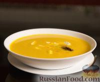 Фото к рецепту: Тыквенный крем-суп со сливками и сыром