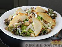 Фото к рецепту: Тёплый салат с грушей